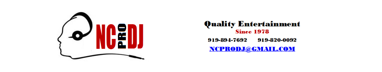 North Carolina Professional Mobile Disk Jockeys